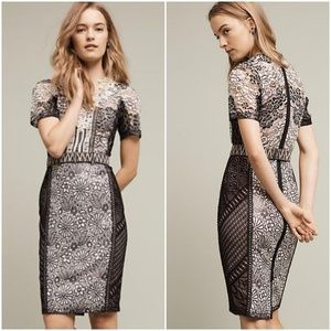 NWT Byron Lars Lace Melange Pencil Dress Anthro